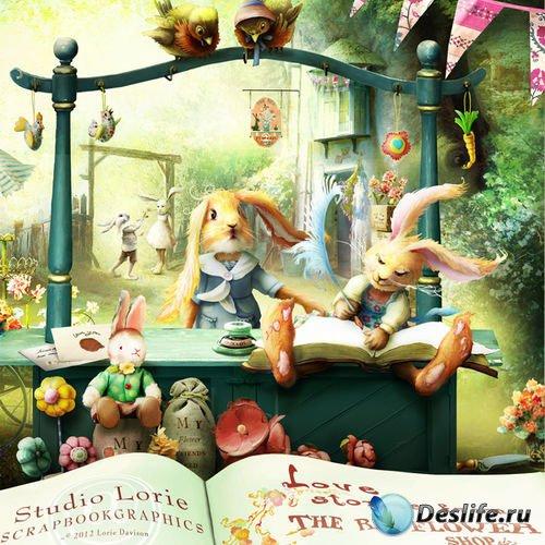 Сказочный скрап-комплект - История любви из цветочного магазина