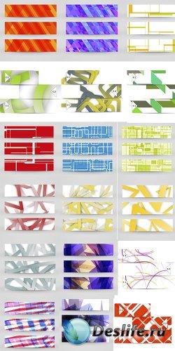 Абстрактные цветные векторные банеры