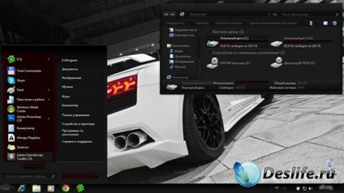 Testing Dark - Тема для Windows 7