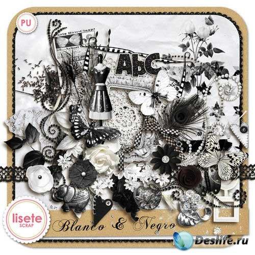 Винтажный экстравагантный скрап-комплект - Blanco & Negro