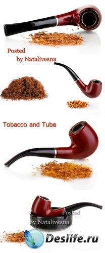 Трубка для табака на белом фоне