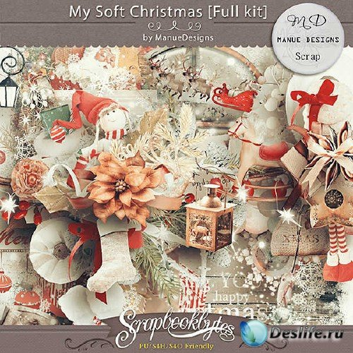 Новогодний скрап-набор - Моё скромное Рождество