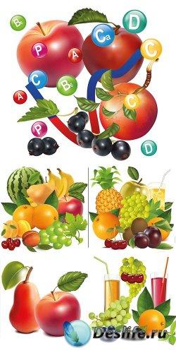 Векторный фруктовый микс