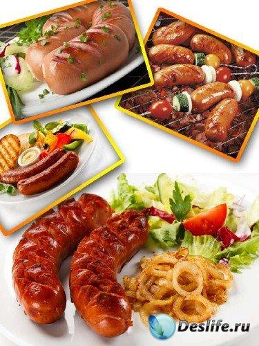 Аппетитные колбаски и сардельки (подборка изображений)
