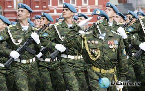 Костюм для фотомонтажа - На параде в военной форме