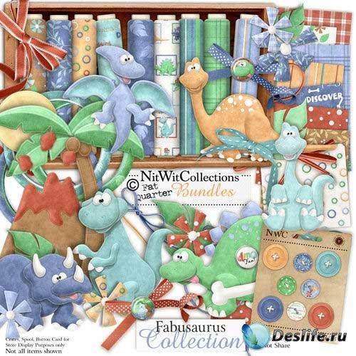 Очаровательный детский скрап-комплект - Fabusaurus