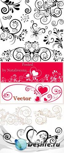 Декоративные узоры и элементы в Векторе