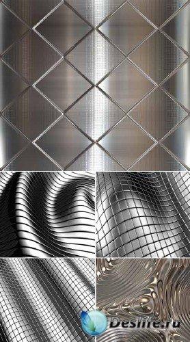 Алюминиевый абстракт (набор фонов)
