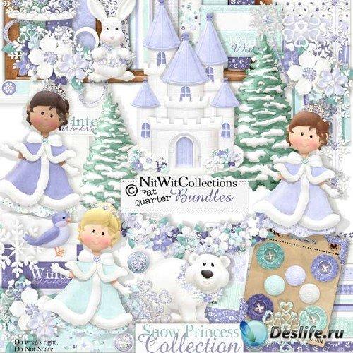 Зимний скрап-комплект - Снежная королева