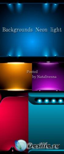 Фоны в Векторе – Неоновый свет