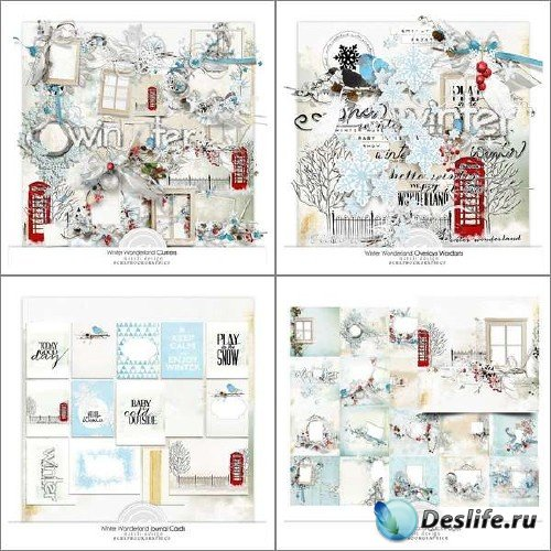 Цифровой скрап-набор - Страна зимних сказок