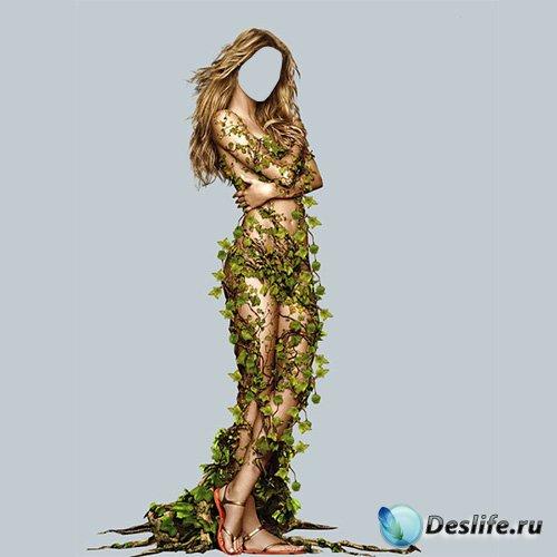 PSD костюм для девушек - Мисс весна в листьях