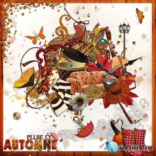 Осенний скрап-комплект - Осенний дождь