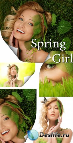 Девушка и весна - сток фото