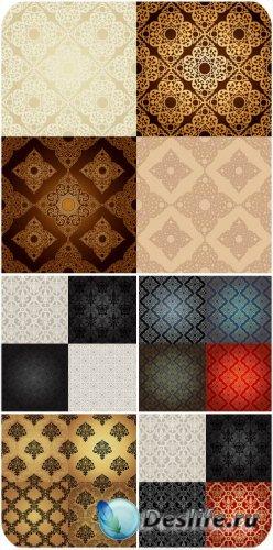 Коллекция векторных винтажных фонов с узорами