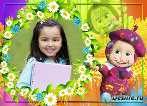 Детская фоторамка - Маша художница