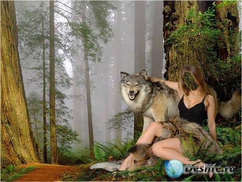 Костюм для девушек - С волком в обнимку