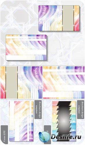 Фоны с абстракцией в векторе, визитки