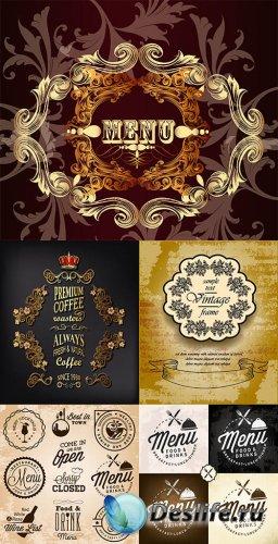 Ресторанные меню в векторе 2