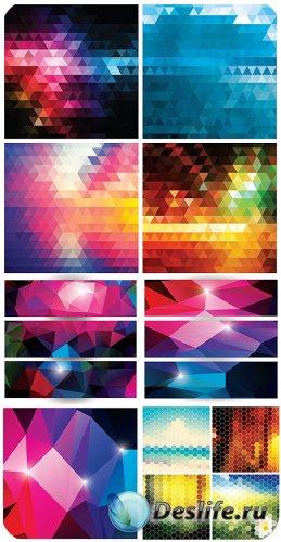 Векторные баннеры, фоны с абстракцией