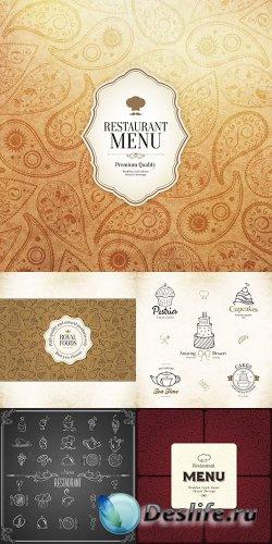 Ресторанные меню в векторе 3