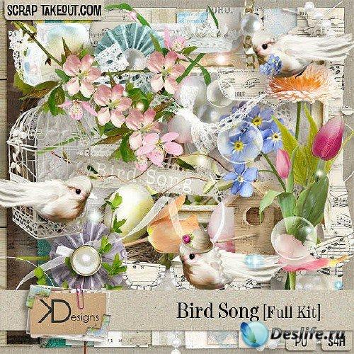 Цифровой скрап-комплект - Песни птиц