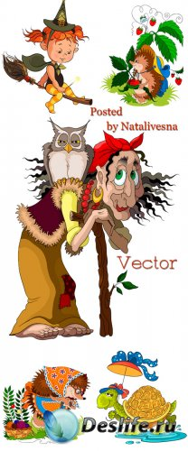 Векторный клипарт – Сказочные персонажи
