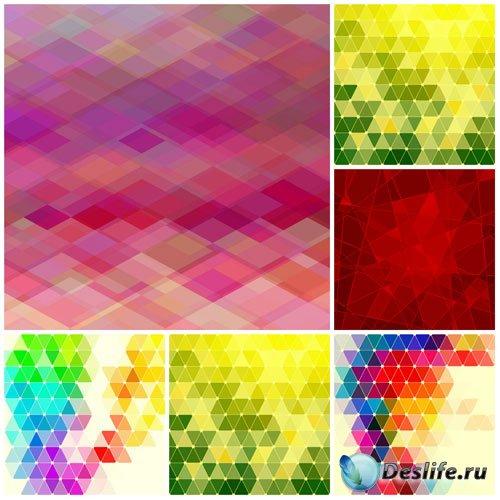 Цветная абстракция в векторе, фоны
