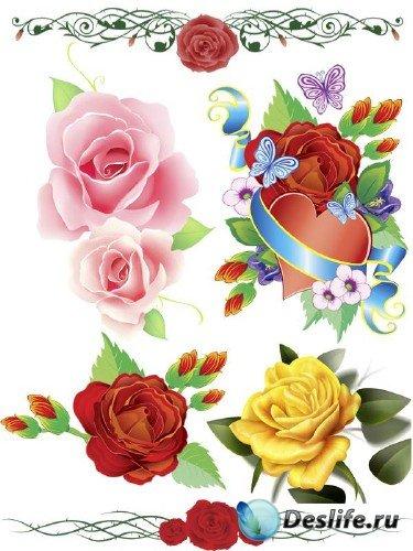 Розы нарисованные (мега подборка цветов)