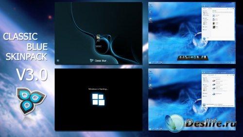 Classic Blue SkinPack V3.0 - Тема для Windows 7