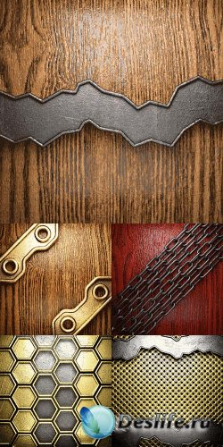 Векторный клипарт - Металл и дерево