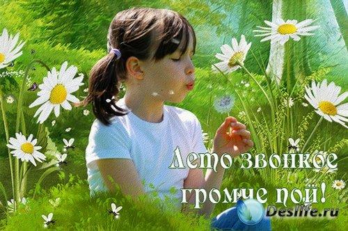 Лето звонкое громче пой - детская рамка-постер