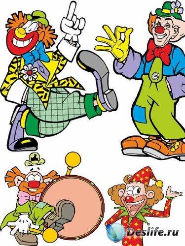 Цирковые клоуны: подборка вектора