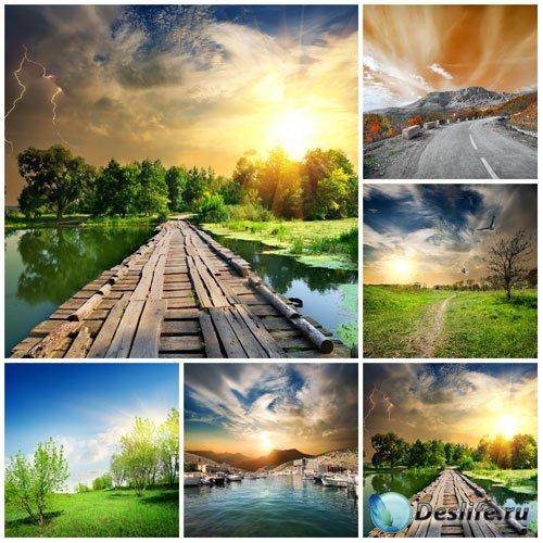 Красивые природные пейзажи - сток фото
