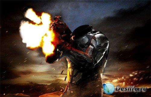 Костюм мужской - Солдат в бою