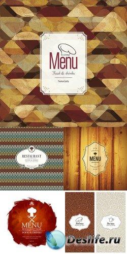 Ресторанные меню в векторе 4