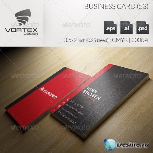 Шаблон Визитки - Business Card 53