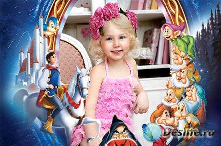 Рамка детская – В гости к сказочным героям