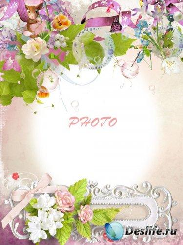 Детская фоторамка - Весенний аромат цветов