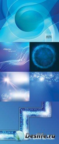 Векторный клипарт - Синие фоны
