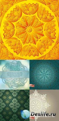 Векторный клипарт - Цветочные фоны 9