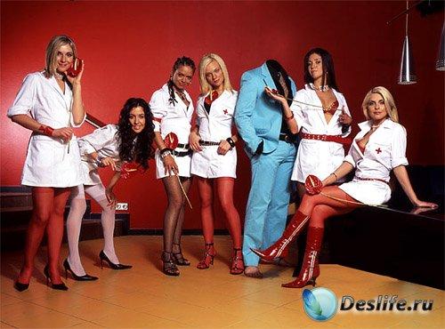 Костюм для мужчин - В окружении отличных медсестер