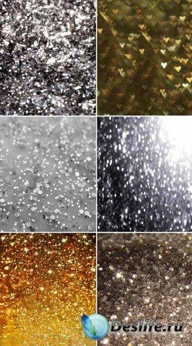Набор серебристых и золотых блесток