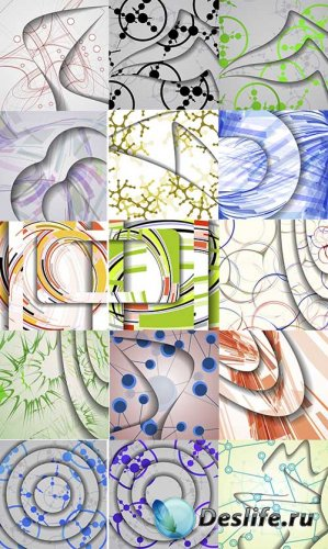 Векторные абстрактные цветные фоны