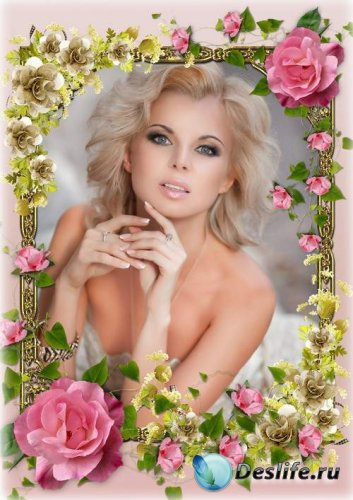 Нежная цветочная рамка - Прекрасный аромат цветов