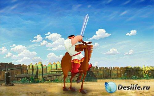 Костюм для мальчиков - Богатырь с мечом на умном коне