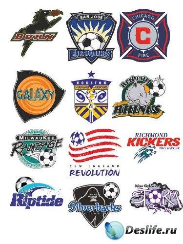Логотипы и эмблемы футбольных команд США (вектор)