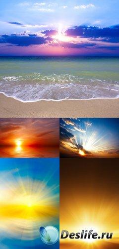 Растровый клипарт - Закат и рассвет
