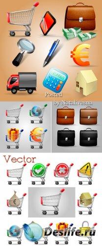 Иконки в Векторе – Тележка со значками