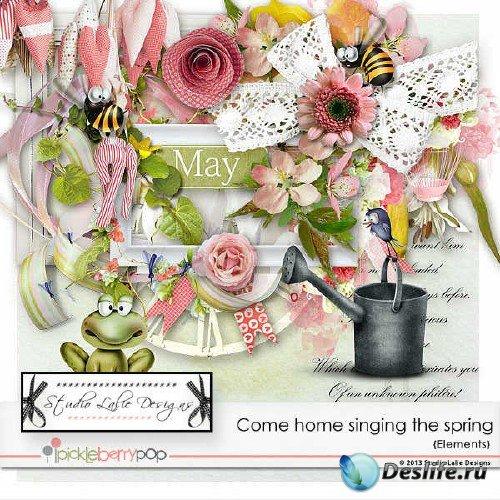 Цифровой скрап-набор - Настала пора и весна запела